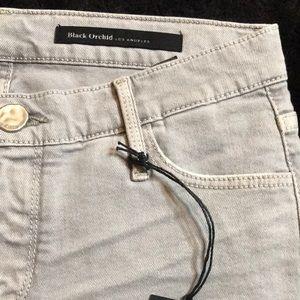 NWT Black Orchid denim shorts boho grey